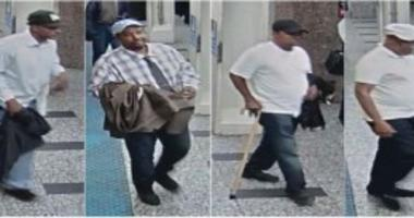 Surveillance image of two men wanted for pickpocketing people at CTA Blue Line stations in September.