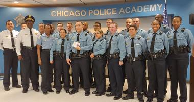 The Chicago Police Department honored one of its recruits Fridaymorning for helping save a man's life on the West Side.