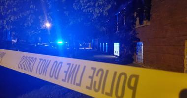 Chicago Police investigate the scene where someone was shot near Schubert and St. Louis.
