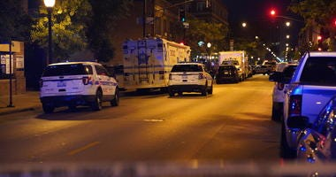 Chicago police investigate a barricade situation July 23, 2019 in the 3400 block of North Broadway