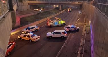 Three people were injured July 30, 2019 in a crash on Interstate 57.
