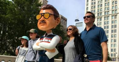 7-Foot Mike Ditka Bobblehead On Display In Millennium Park