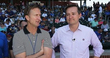 (L-R) Chicago Cubs chairman Crane Kenney and Owner and CEO of the Chicago Cubs, Tom Ricketts