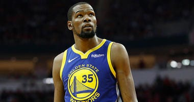 Kevin Durant with the Golden State Warriors.