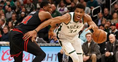 Giannis Leads Bucks Past Bulls, 124-115