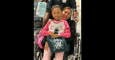 Gisselle Zamago, the 7-year-old girl who was shot in the neck while trick-or-treating on Halloween in the Little Village neighborhood, is home from the hospital now.