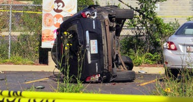 Harvey Police investigate a fatal crash Sept. 26, 2019, in the 16200 block of South Halsted Street.