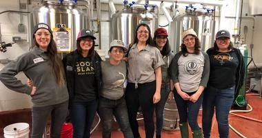 "Women from a handful of local breweries are gathered in a room at Goose Island on West Fulton, collaborating on a beer they're calling ""Women of the House."""