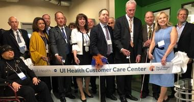 The Chicago Lighthouse, an organization that servesthe visually impaired and disabled, held a ribbon-cutting ceremony Wednesday for the renovation and expansion of its state-of-the-art, fully accessible UI Health Customer Care Center.