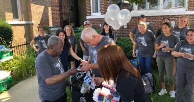 A 91-year-old Korean War veteran and long-time White Sox fan is getting a home makeover courtesy of the team as part of its Sox Serve Week.