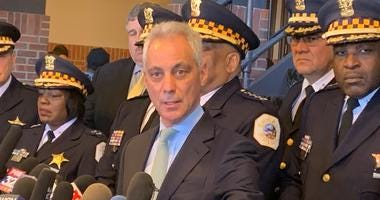 Mayor Emanuel addressed the media Tuesday at Navy Pier after hearing the charges against Jussie Smollett were dropped.