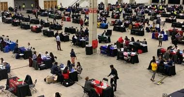 Hundreds of Chicago high school students were accepted to college on the spot Tuesday at Navy Pier.