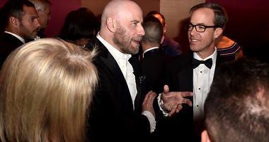 John Travolta, bald head