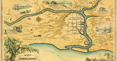 Map of Chicago in 1833