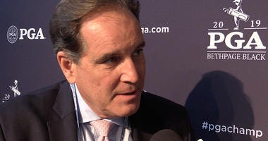 Jim Nantz talk about calling golf at Bethpage Black and Tiger Woods