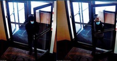 Surveillance image of the Park Ridge bank robbery