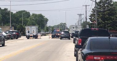 Posen police and Cook County sheriff's office SWAT officers are responding to a barricade situation July 9, 2019, in the 14600 block of Blaine Avenue in Posen.