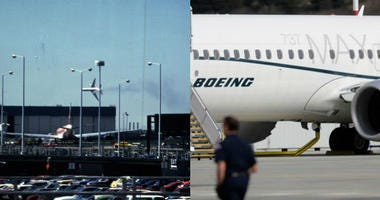 Flight 191 (left) and a Boeing 737 Max