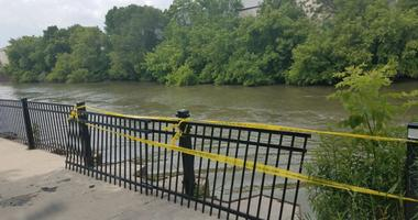 Two men were pulled from the Chicago River on June 28, 2019, after they tried to put a boat in the water to go fishing near the 1500 block of North Kingsbury Street.