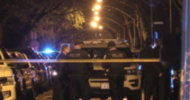Police investigate a shooting about 4 a.m. Thursday, November 22, 2018 in the 5500 block of North Talman Avenue in Chicago.
