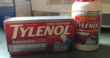 Tylenol Box and Bottle 2019
