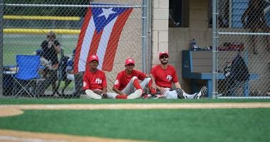 The Top Rank Baseball Puerto Rico little league team played the Waterdogs 14u team during the Fruitland Baseball tournament on Saturday, August 11, 2018 at Henry S. Parker Athletic Complex.