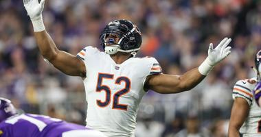 Dec 30, 2018; Minneapolis, MN, USA; Chicago Bears linebacker Khalil Mack (52) looks on during the second quarter against the Minnesota Vikings at U.S. Bank Stadium. Mandatory Credit: Brace Hemmelgarn-USA TODAY Sports