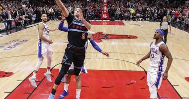 LaVine Leads Bulls Past 76ers, 108-107