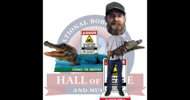 """Frank """"Alligator"""" Robb and Chance the Snapper Dual Bobblehead"""