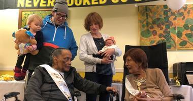 Baby Meets 2 Centenarians