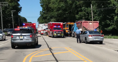 A crash involving two school buses happened near Route 137 and River Road in unincorporated Libertyville on Aug. 1, 2019.