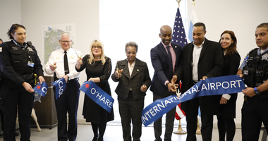 The citycut the ribbon Tuesday on a new facility for CPD personnel assigned to O'Hare International Airport that will provide state-of-the-art technology and make history.