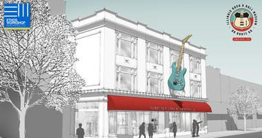 Construction is officially underway for the proposed Illinois Rock and Roll Museum in Joliet.