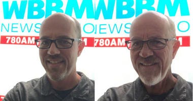 Before and After: WBBM Newsradio's Josh Liss with old-age filter through FaceApp