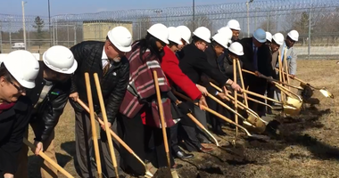 Ground was broken Monday morning in Joliet for a 200-bed in-patient facility that will primarily serve Illinois prison inmates with serious mental illness.
