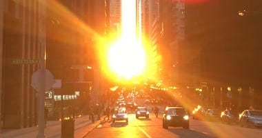 'Chicagohenge' Is When Sunrise, Sunset Create Canyon Effect Downtown