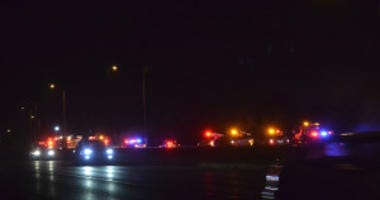 Police investigate a crash about 5:30 a.m. Saturday, August 25, 2018 in the south bound lanes of I-57 at 147th St in Posen. | Justin Jackson/ Sun-Times