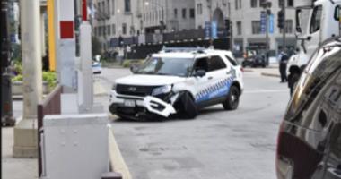 lamborghini cop car collision