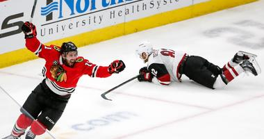 Perlini Gets Hat Trick As Blackhawks Beat Coyotes
