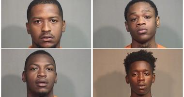 Zishawn Hunt, Amil Little, Izerion Cooper and Maurice Dixon (clockwise from left)