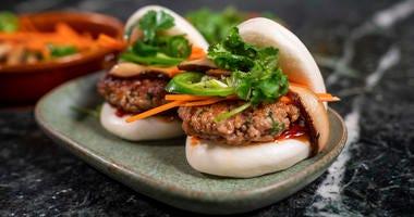 Impossible Pork Bao Dish