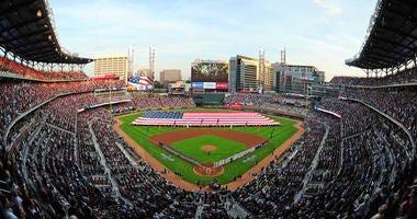 Suntrust Stadium, home of the Atlanta Braves