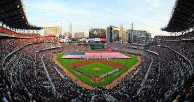 Suntrust Stadium, home of the Atlanta Braves