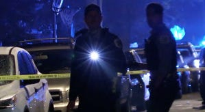 Police investigate a shooting about 2:34 a.m. Sunday, June 2, 2018 in the 1200 block of West 73rd St. in Chicago.