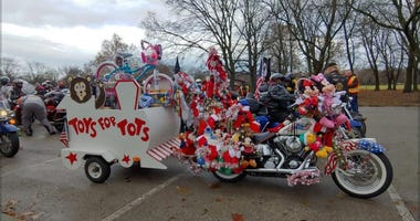 The 41st annual Toys for Tots parade at Dan Ryan Woods