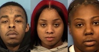 Victor Williams (L), Joshlyn Allen (C) and Emiaya Shannon (R) | DuPage County state's attorney's office