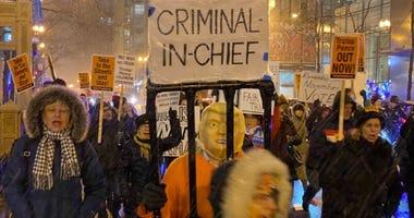 Impeachment Vote Protest Chicago