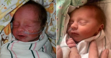 Twins siblings born in an Indiana hospital around the New Years holiday have birthdays in different decades.