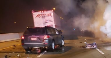 One person was killed Sunday in a three-vehicle expressway crash in northwest Indiana.