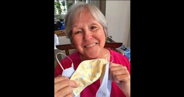 "Cheryle Davis of Clarendon Hills has been a volunteer at Brookfield Zoo for 2 years. She is one of the ""Merry Mask Makers"" who has been sewing masks for animal care staff."